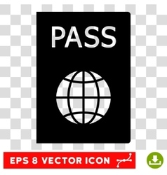 Passport eps icon vector