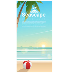 seascape background with tropical beach vector image