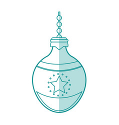 round christmas ornament design vector image