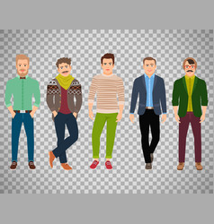 Confident fashion man on transparent background vector