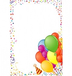birthday frame vector image