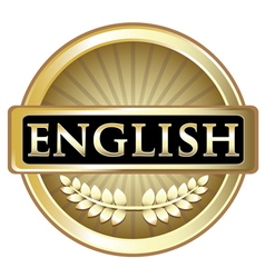 English gold label vector