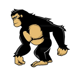 Walking ape vector