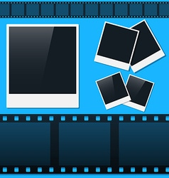 Set of photos and film tape vector