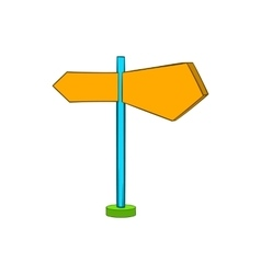 Direction signs icon in cartoon style vector