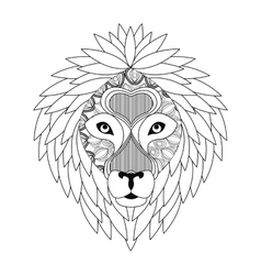 Lion icon animal and ornamental predator design vector