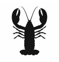 Crayfish icon simple style vector