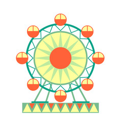 big ferris wheel ride part of amusement park and vector image vector image