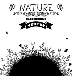 Black and white nature background vector image vector image