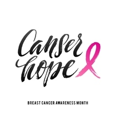 Breast cancer awareness calligraphy poster vector