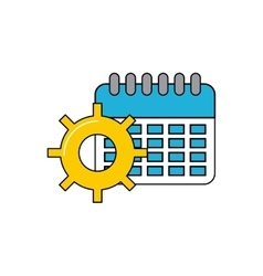 Calendar with social media icon vector