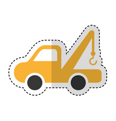crane vehicle isolated icon vector image vector image