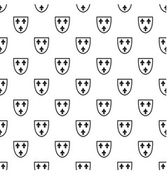 crest pattern vector image