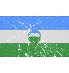 Flag of kabardino-balkaria with old texture vector