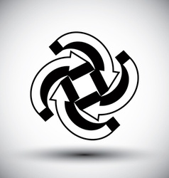 Four arrows loop conceptual icon abstract new idea vector image