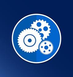 gear icon button logo symbol concept vector image
