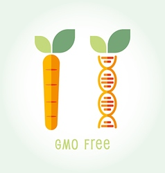 Genetically Modified Organisms GMO FREE emblem vector image vector image