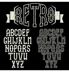 Grunge retro alphabet for restaurant vector