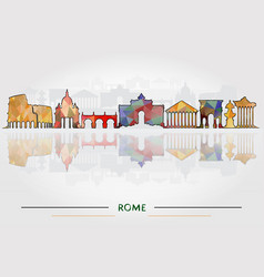 Historic buildings of rome vector