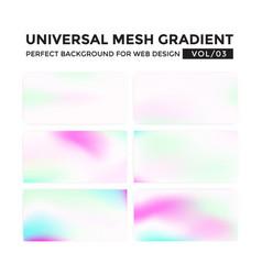 iridescent colored universal mesh gradient vector image vector image