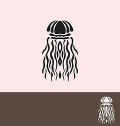 Jellyfish symbol vector