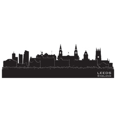 Leeds England skyline Detailed silhouette vector image