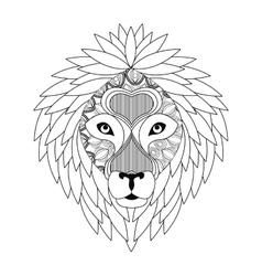 Lion icon animal and ornamental predator design vector