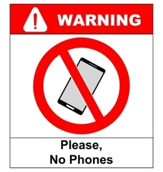 No cell phone sign Mobile phone ringer volume vector image vector image