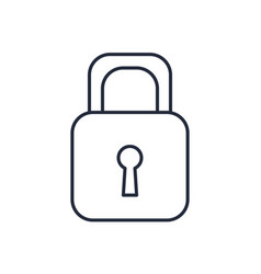 padlock security close privacy lock vector image