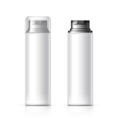 realistic white cosmetics bottle can spray vector image vector image