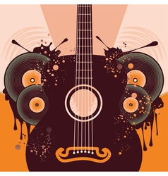 Retro guitar poster2 vector