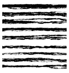 Set of Black brush strokes vector image vector image
