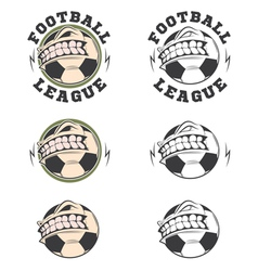 Set of football labels and badges vector image
