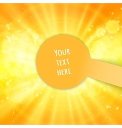 Shiny sun and space for your text vector image