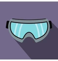 Snowboarding goggles icon flat style vector image