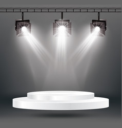 Stage illumination effects with spotlights and vector