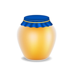sweet honey in glass bottle vector image vector image