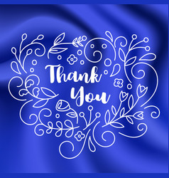 thank you card on silk background vector image vector image