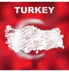 Turkish abstract map vector