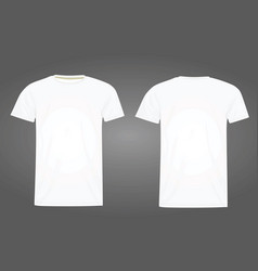 White t shirt template vector