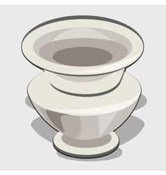 White vase object for your design needs vector image vector image