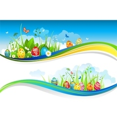 Easter banners vector