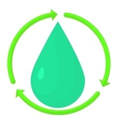Drop icon cartoon style vector image