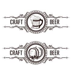 Vintage beer label vector