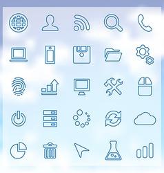 25 development icons set vector
