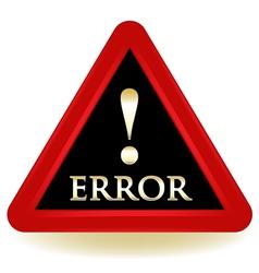 Error Sign vector image
