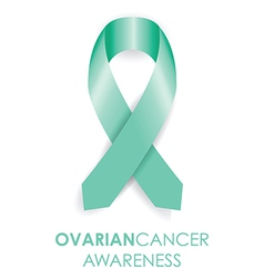 Ovarian cancer ribbon vector