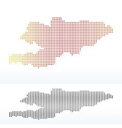 Map of kyrgyz republic with dot pattern vector