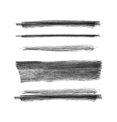 Collection of hand drawn chalk marks texture vector