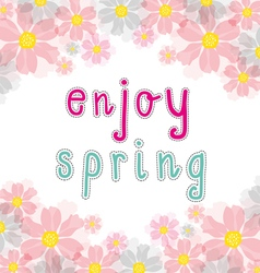 Enjoy spring vector